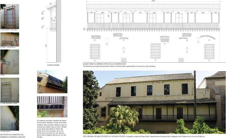 Balcón de la Contratación Alcázar Sevilla. Atanasio y Muñoz arquitectos