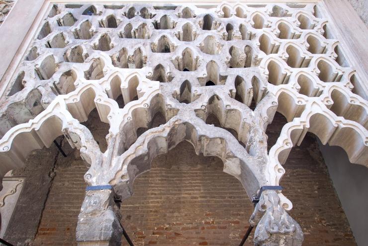 Sala de la Justicia y Patio del Yeso Alcázar Sevilla. Atanasio y Muñoz arquitectos