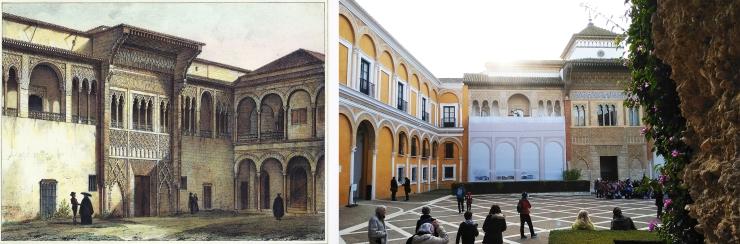Galerías altas del Palacio Mudéjar Alcázar Sevilla. Atanasio y Muñoz arquitectos
