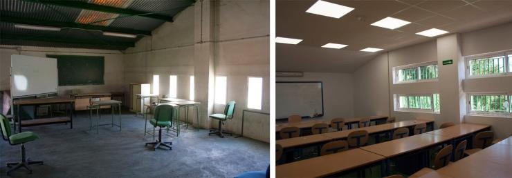 Reforma Interior y mejora de Instalaciones en I.E.S. Pintor Pedro Gómez, Huelva. Atanasio y Muñoz Arquitectos